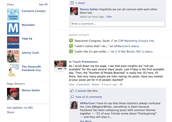 Page Owner(s) will be shown on lower left side of Facebook business page.