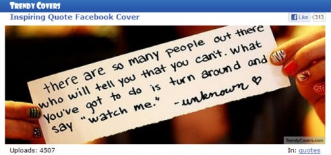 "Your Facebook Cover can ""tell it like it is"" with TrendyCovers"