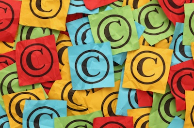 Image of copyright symbol shows how to protect your website content