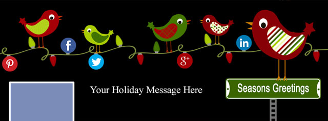 Free holiday facebook cover photo template miss birdies gift to you m4hsunfo